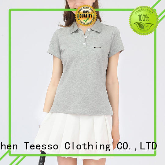 Teesso ladies cotton polo shirts manufacturers for ladies